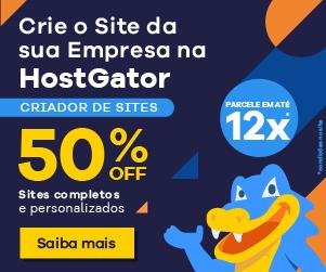Criador de Sites HostGator em promoção. Aproveite!