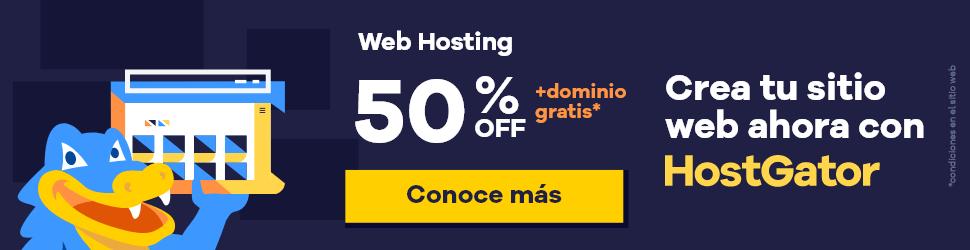 Web Hosting 50% descuento